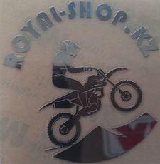 """Наклейка """"royal-shop.kz"""" 5*5см (мотоцикл)"""
